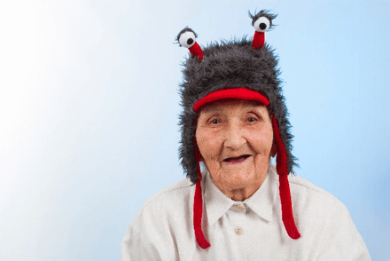 Old grammy wearing a goofy hat - How to Use Experiential Training Methods to Build Agile Strategic Allegiances [Training Standards International, Inc]